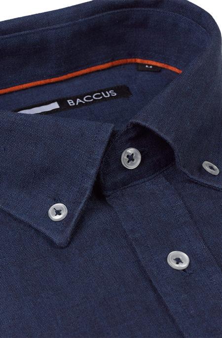 camisa de linho para homem cor azul marinho verão 2021