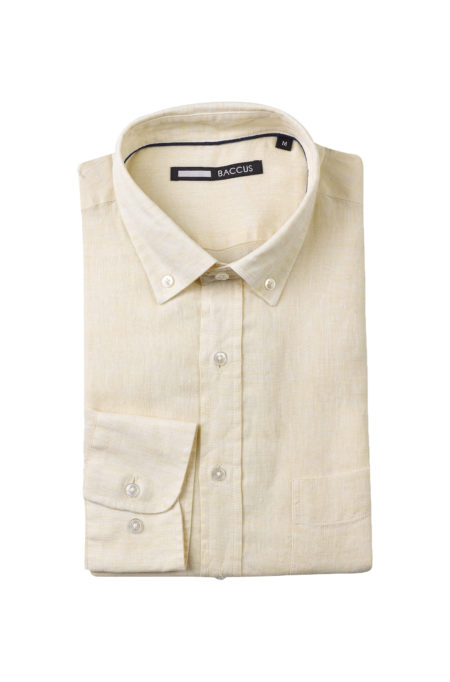 Camisa de Linho para homem amarela